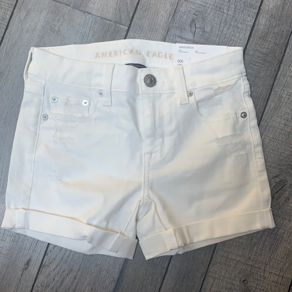 white midi short